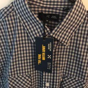 🎉2x$20 Navy Dress Shirt (NWT)